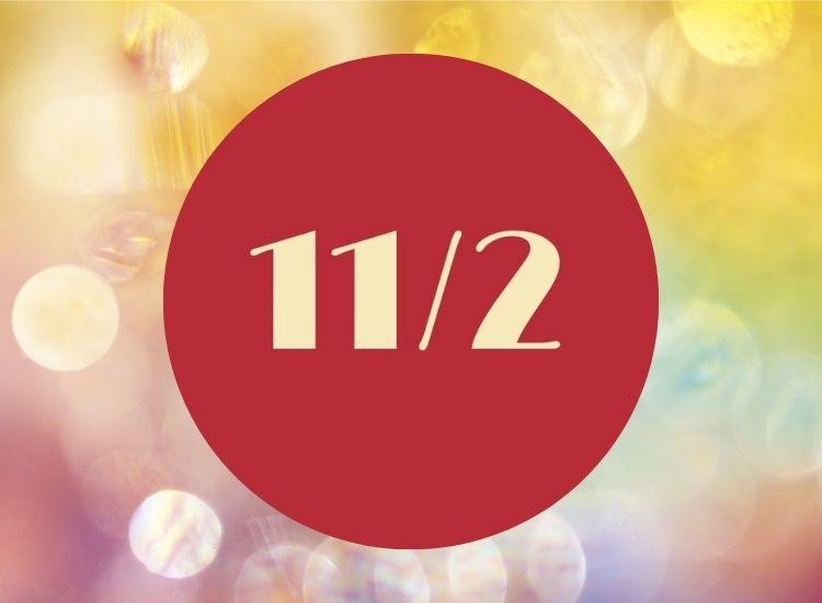 Vibrationen 11/2 numerologi