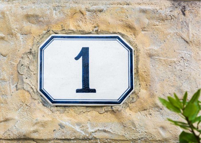 numerologi og husnummer 1