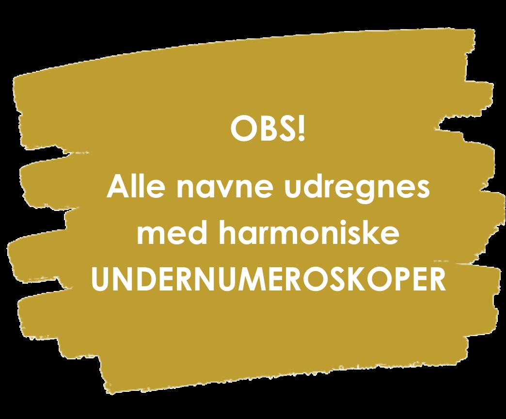 numerologi med undernumeroskoper